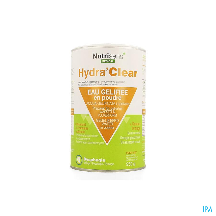 Hydra Clear Sucre Edulcorants Orange 950g