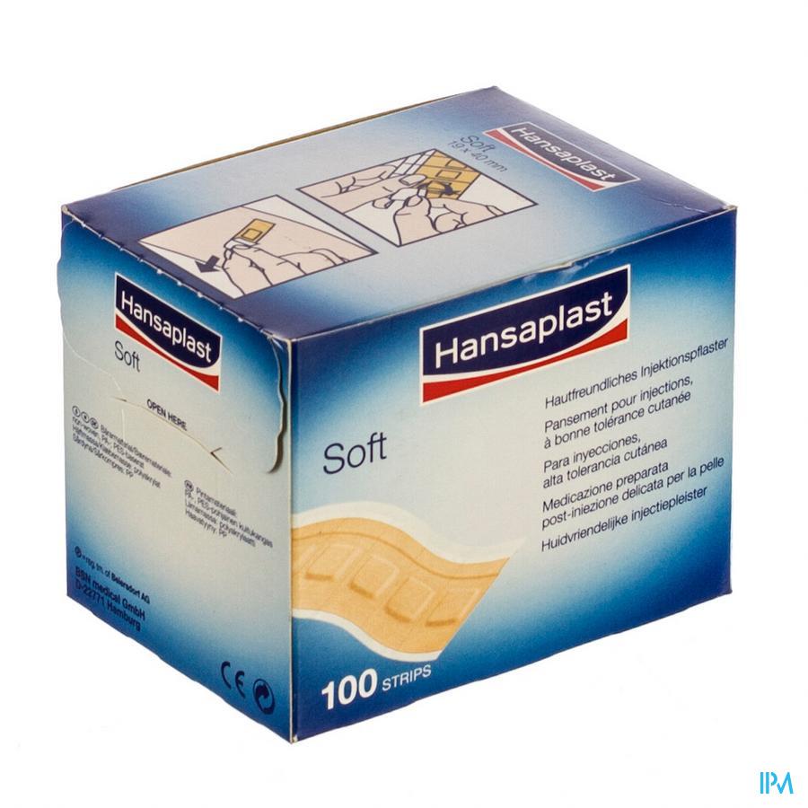 Hansaplast Soft Pleister Individ.strips100 4502100