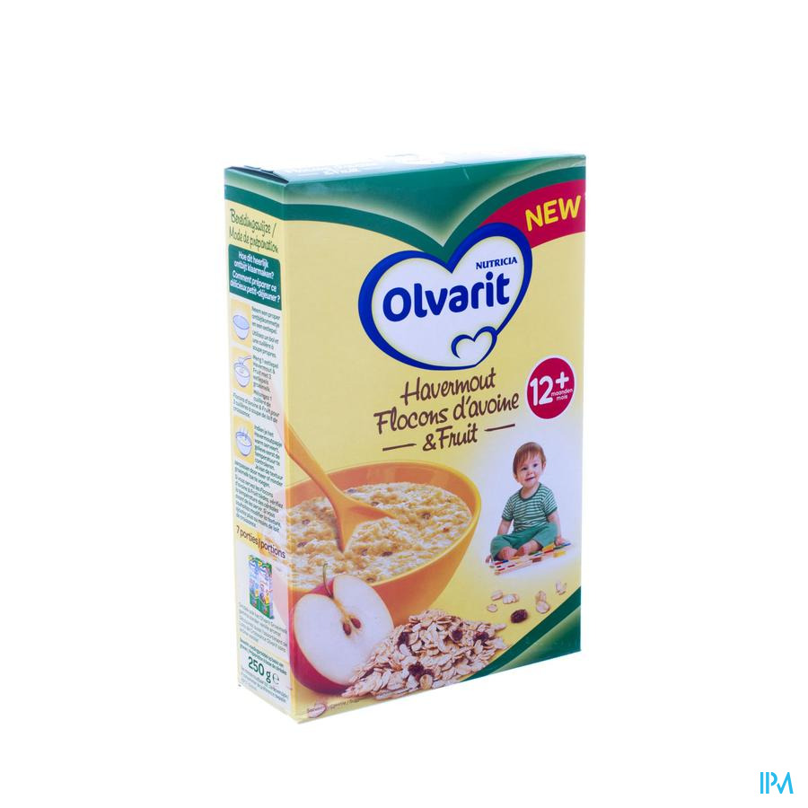 Olvarit Havermout & Fruit 12m 250g
