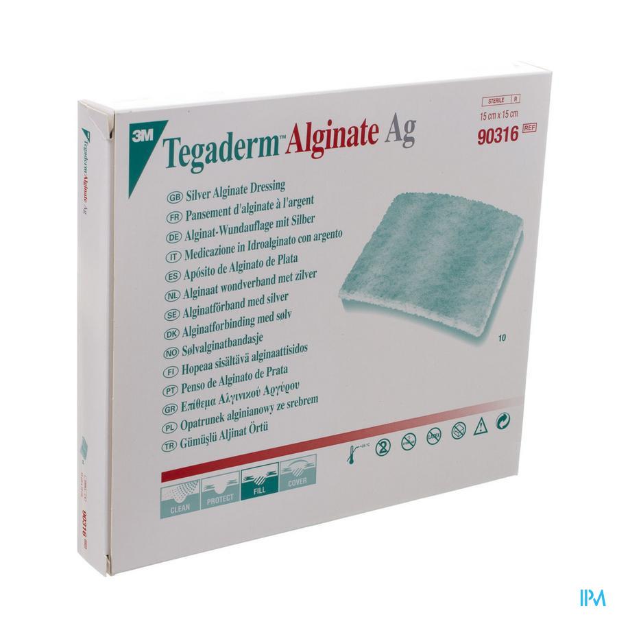 Tegaderm Alginate Ag 15cmx15cm 10 90316