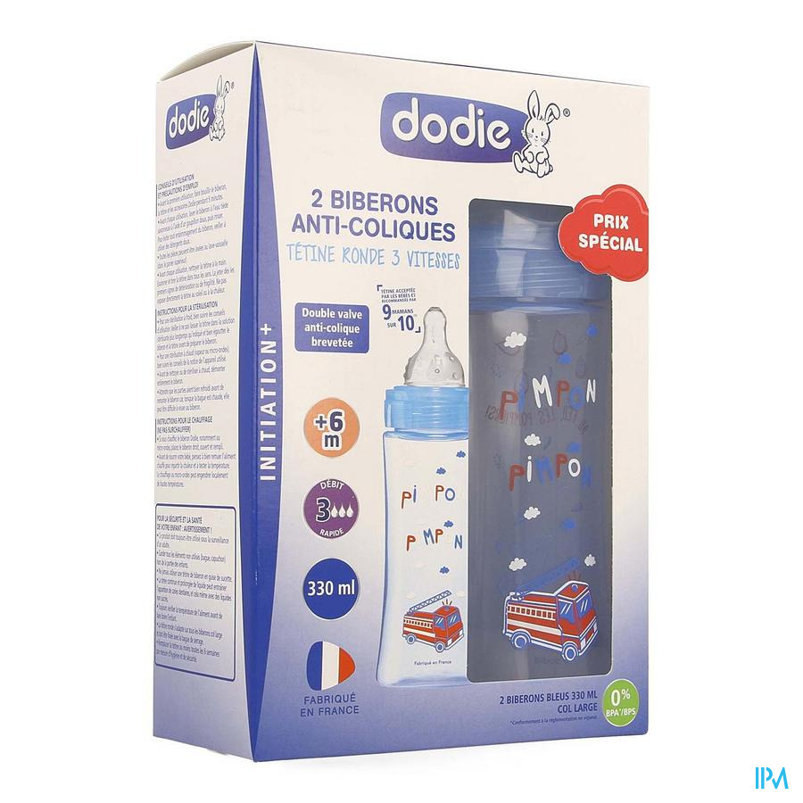 Dodie Kit Zuigfles Initiatie+ Jongen 330ml 2