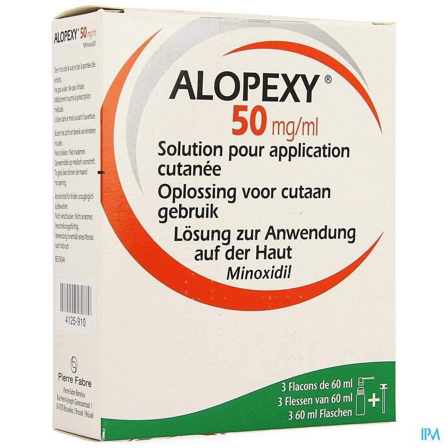 Alopexy 50mg/ml Sol Application Cutanee Fl 3x60ml