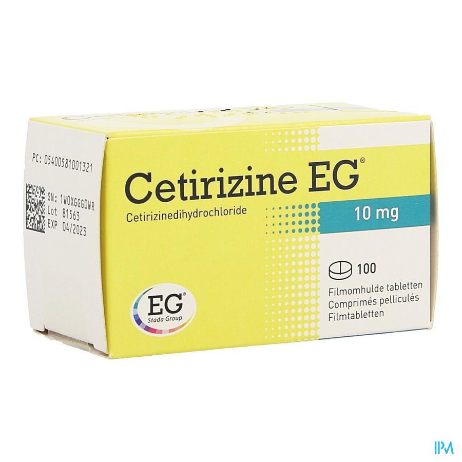 Cetirizine Eg Comp 100 X 10mg