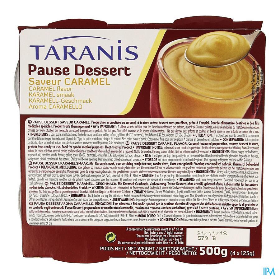 Taranis Pause Dessert Caramel 4x125g 3106