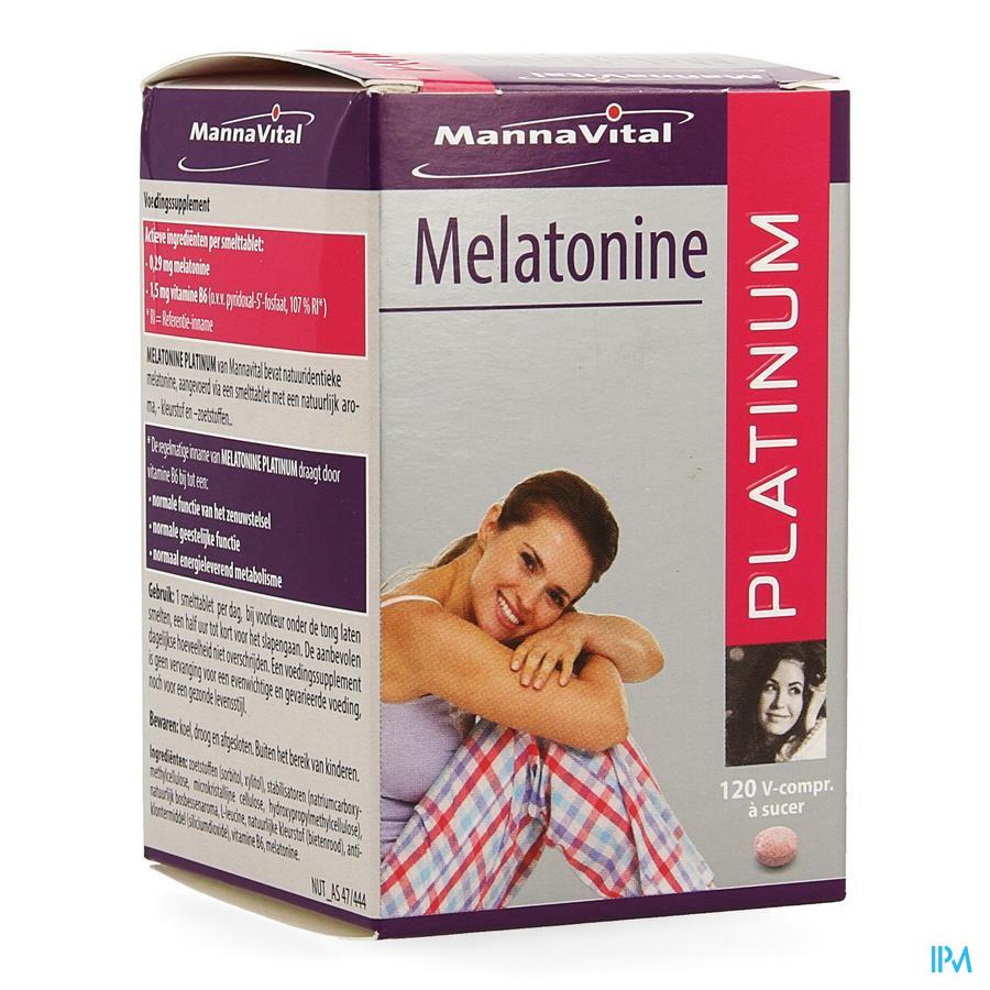 Mannavital Melatonine V-comp Succ 120