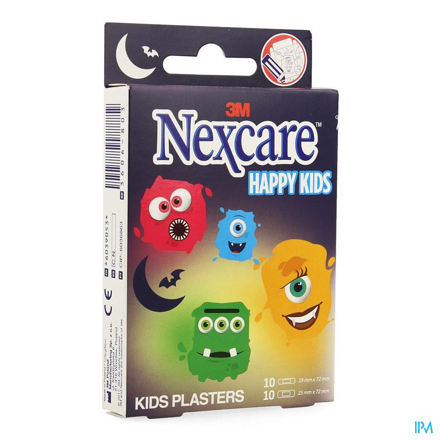 Nexcare 3m Happy Kids Monsters Pleister 20 N0920mo