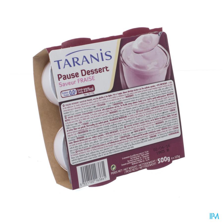Taranis Pause Dessert Fraise 4x125g 4690