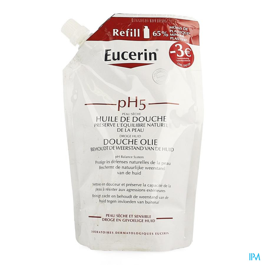 Eucerin Ph5 Douche Olie Refill 400ml Promo-3€