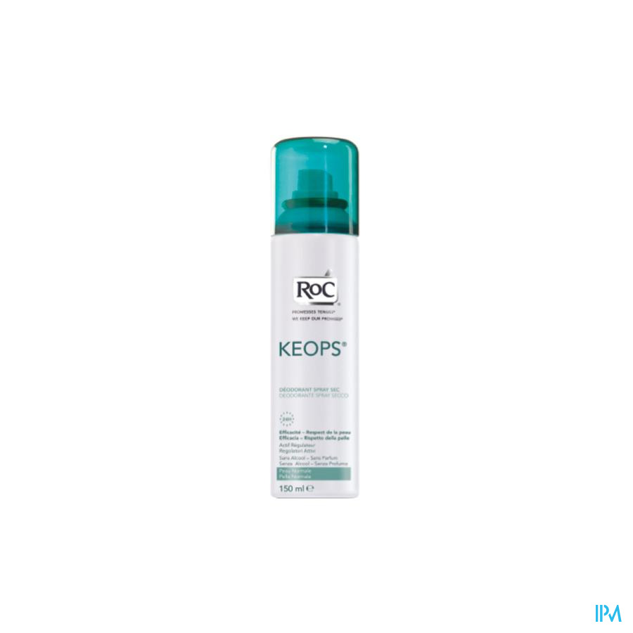 Roc Keops Deo Spray Sec S/alc S/parf Pn 150ml