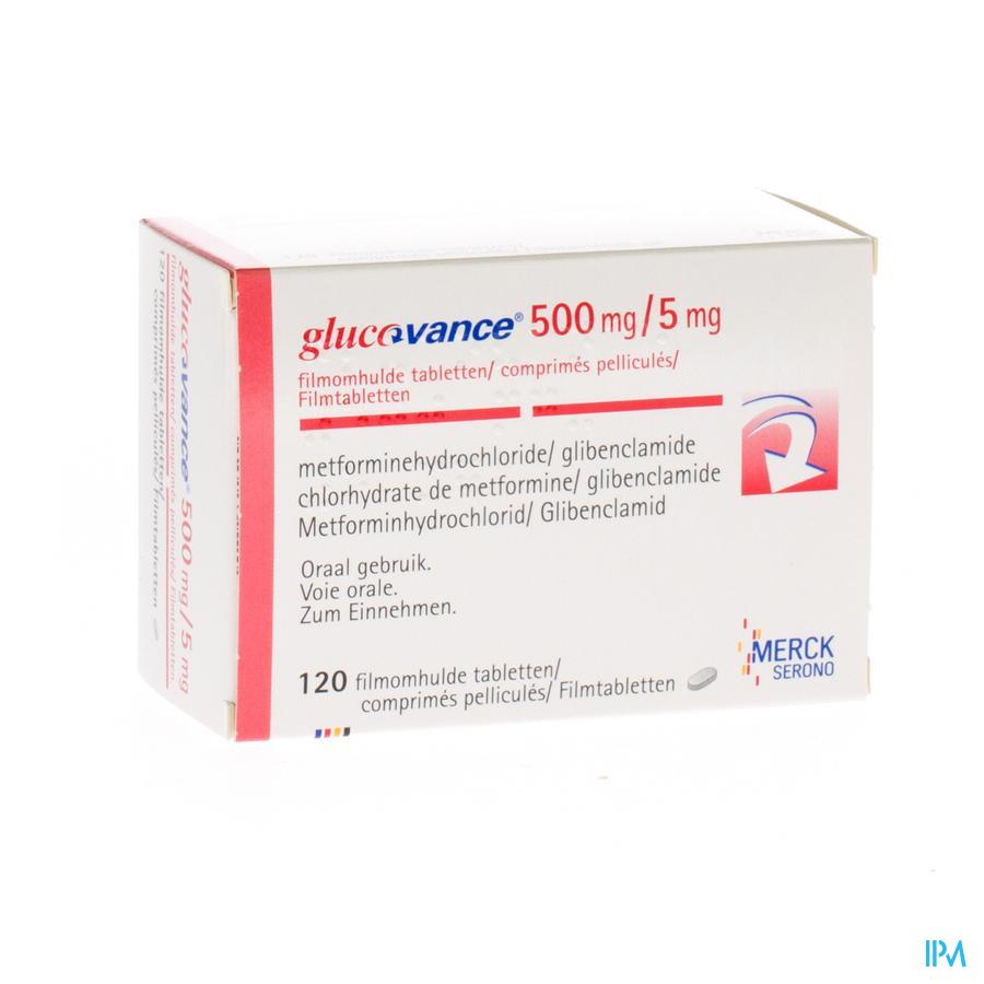 Glucovance 500/5,0 Comp 120 X 500 mg/5,0 mg