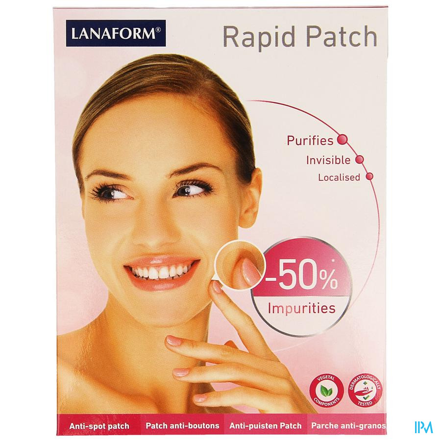 Lanaform Rapid Patch A/puist Rond Transp 90