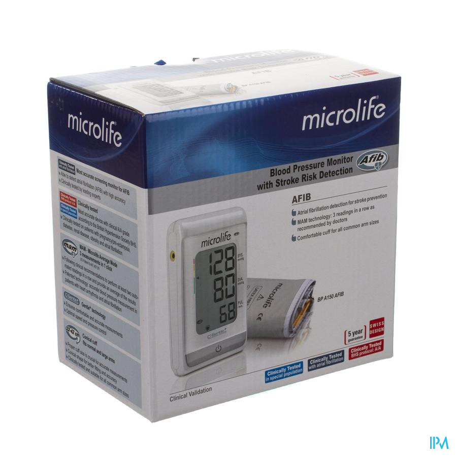 Microlife Bpa150 Tensiometre Automatique Bras Afib