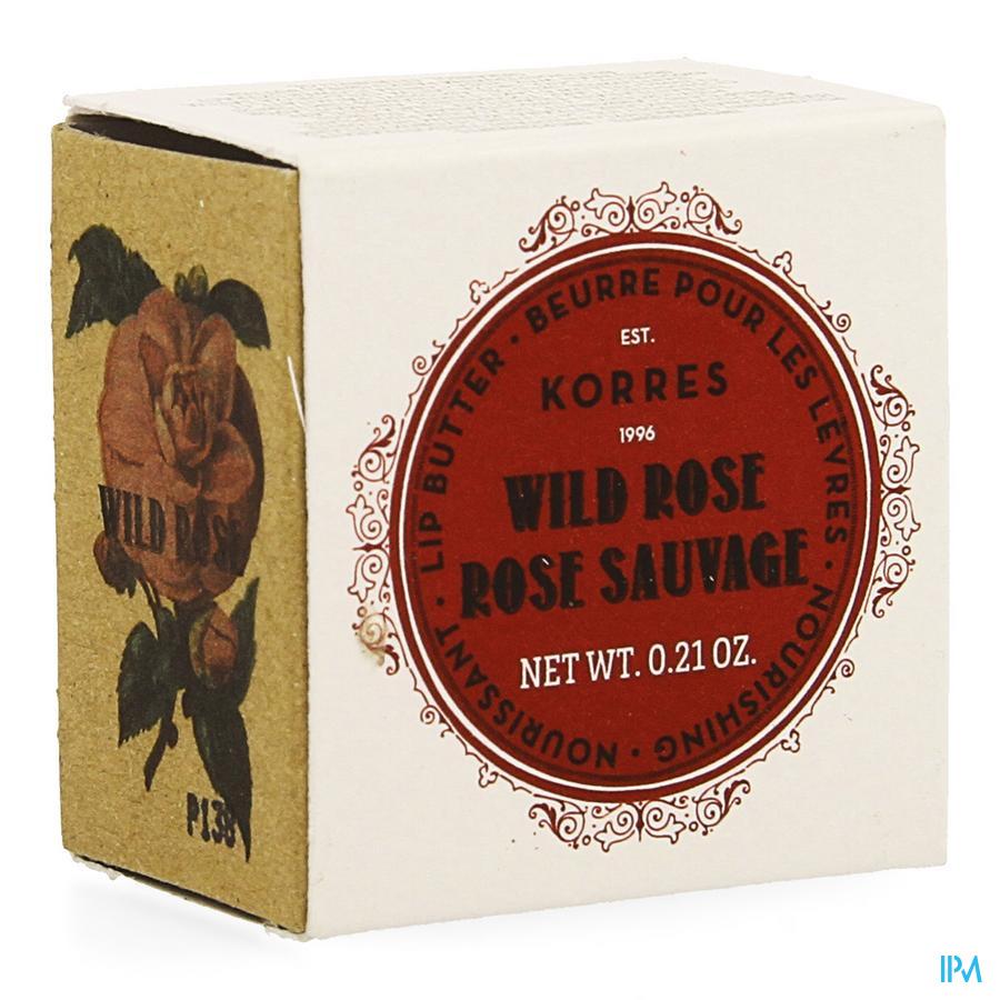 Korres Km Lipbutter Pot Wild Rose 6g