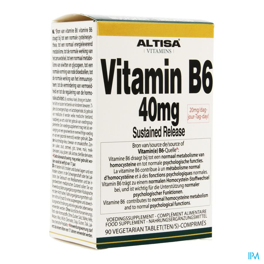 Altisa Vit B6 40mg Sustained Release Tabl 90