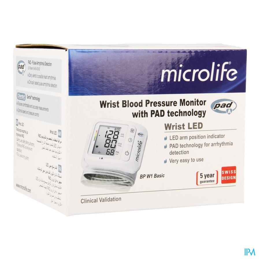 Microlife Bp W1 Basic Bloeddrukmeter Autom. Pols