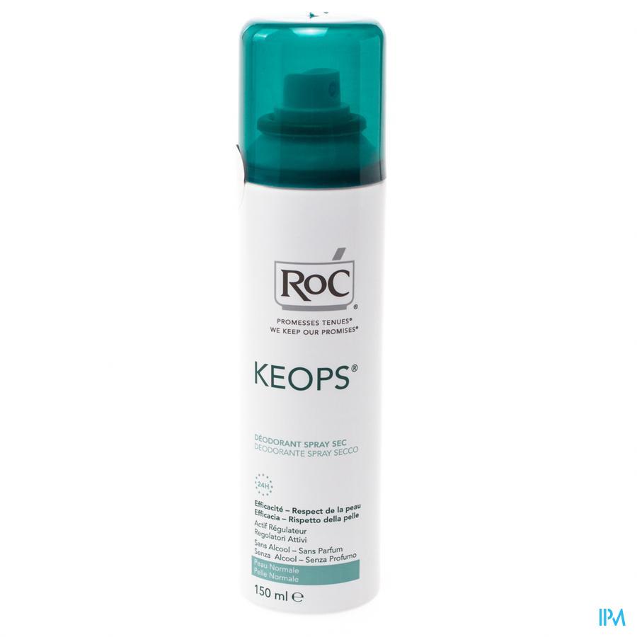 Roc Keops Deo Droge Spr Z/alc Z/parf Norm/h 150ml