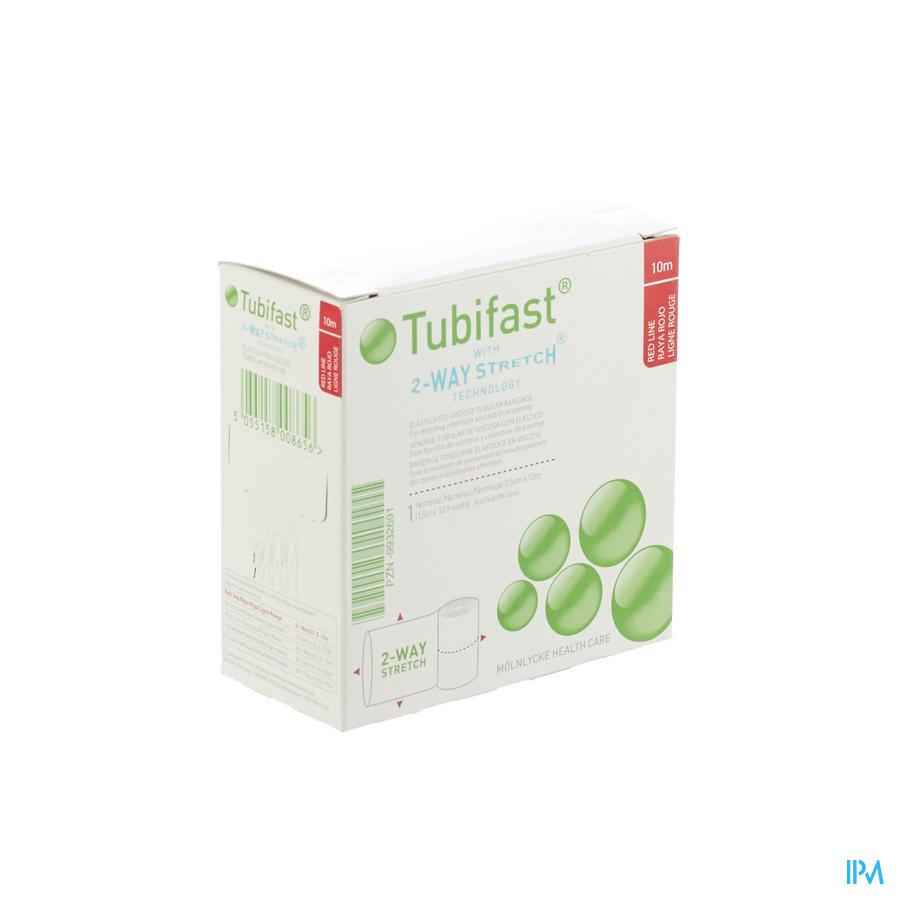 Tubifast Rood 3,50cmx10m 1 2434