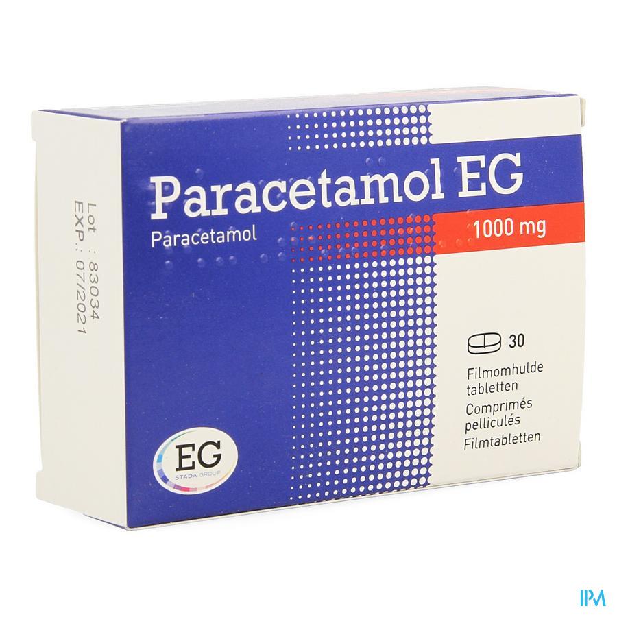 Paracetamol Eg 1000mg Filmomh Tabl 30