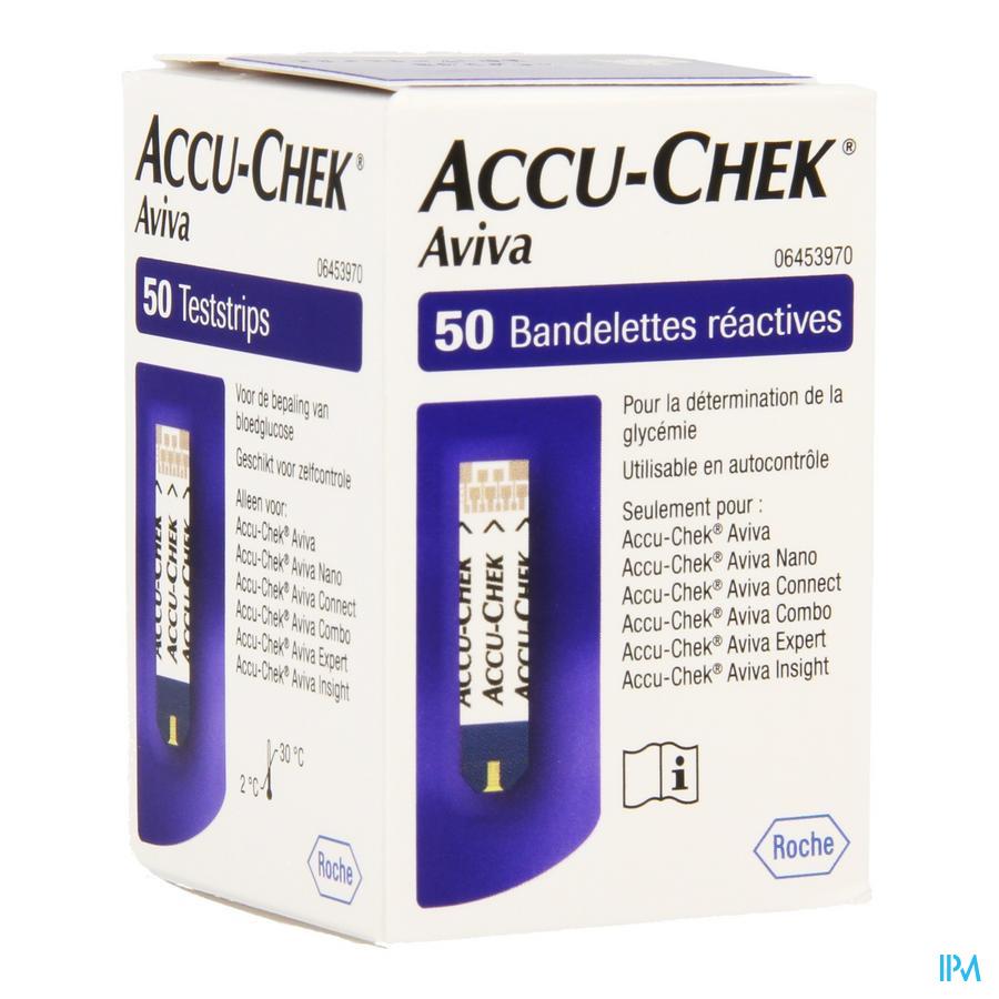 Accu Chek Aviva Bandelettes React 50 6453970054