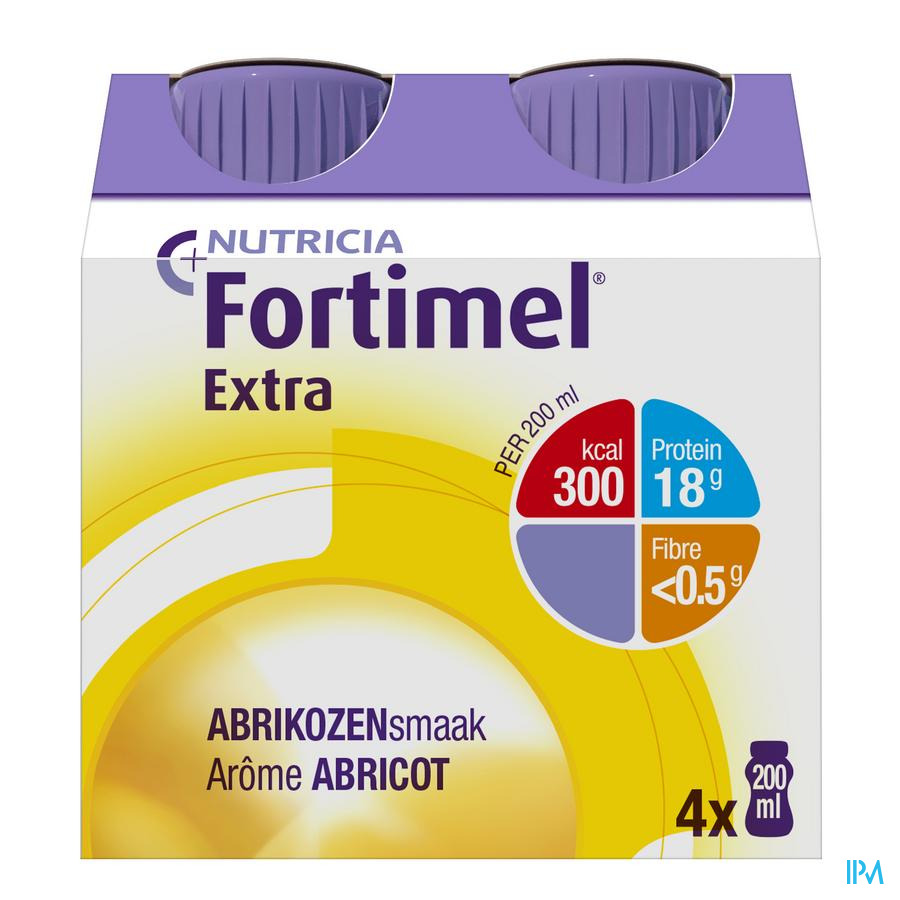 Fortimel Extra Abrikoos 4x200 ml 2505014  -  Nutricia