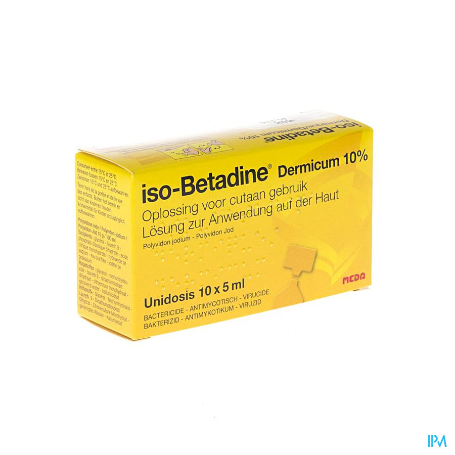 Iso Betadine Derm 10% Unidose Fl 10x5ml