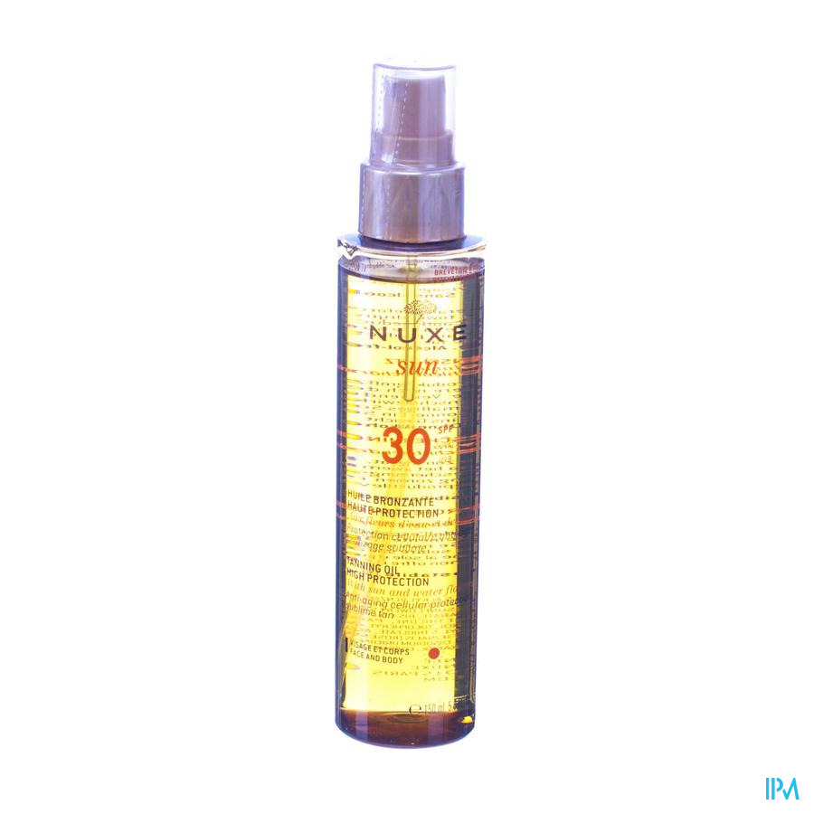 Nuxe Sun Bruiningsolie Gezicht Lichaam Ip30 150ml