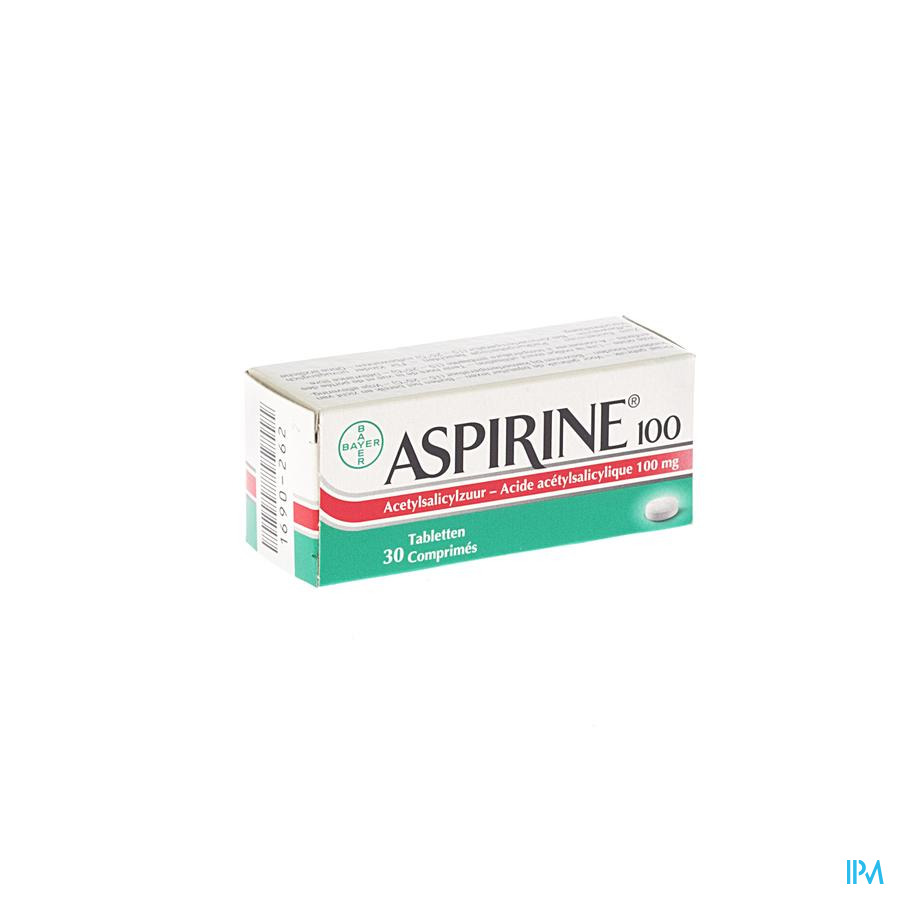 Aspirine 100mg Comp 30