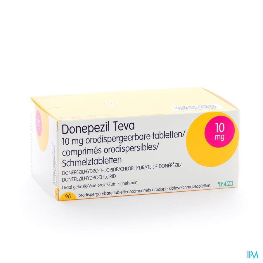 Donepezil Teva 10,0 mg Orod Tabletten 98x 10,0 mg
