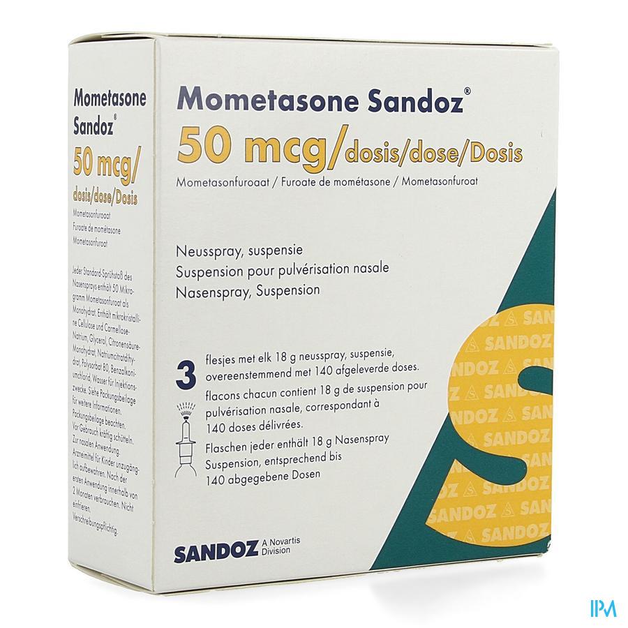 Mometasone Sandoz Neusspray 3 X 140 1 Fl