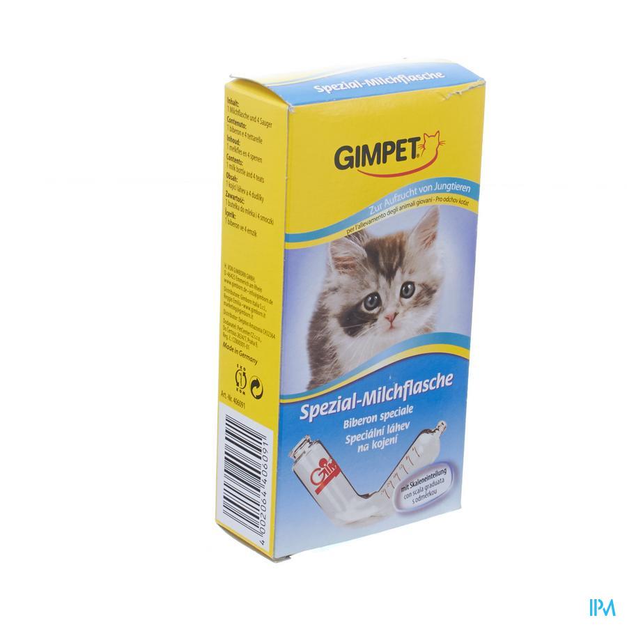 Gimpet Zuigfles + 4 Spenen Katje