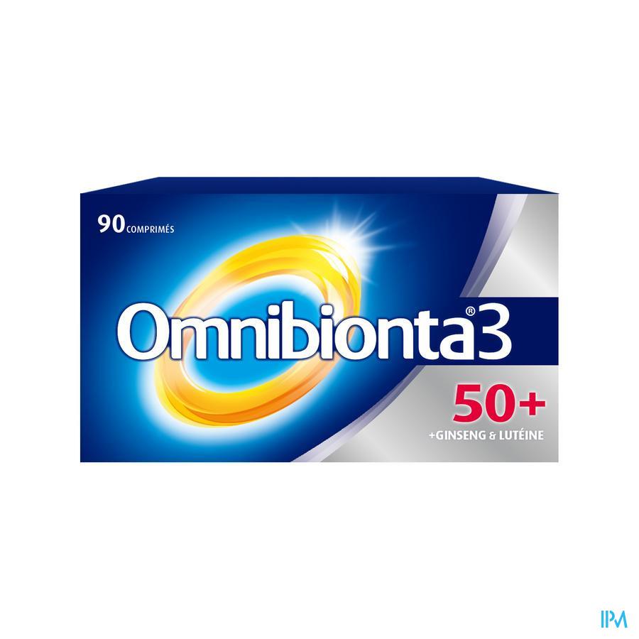 Omnibionta3 50+ Multivitamines Vitalité avec Ginseng (90 comprimés)