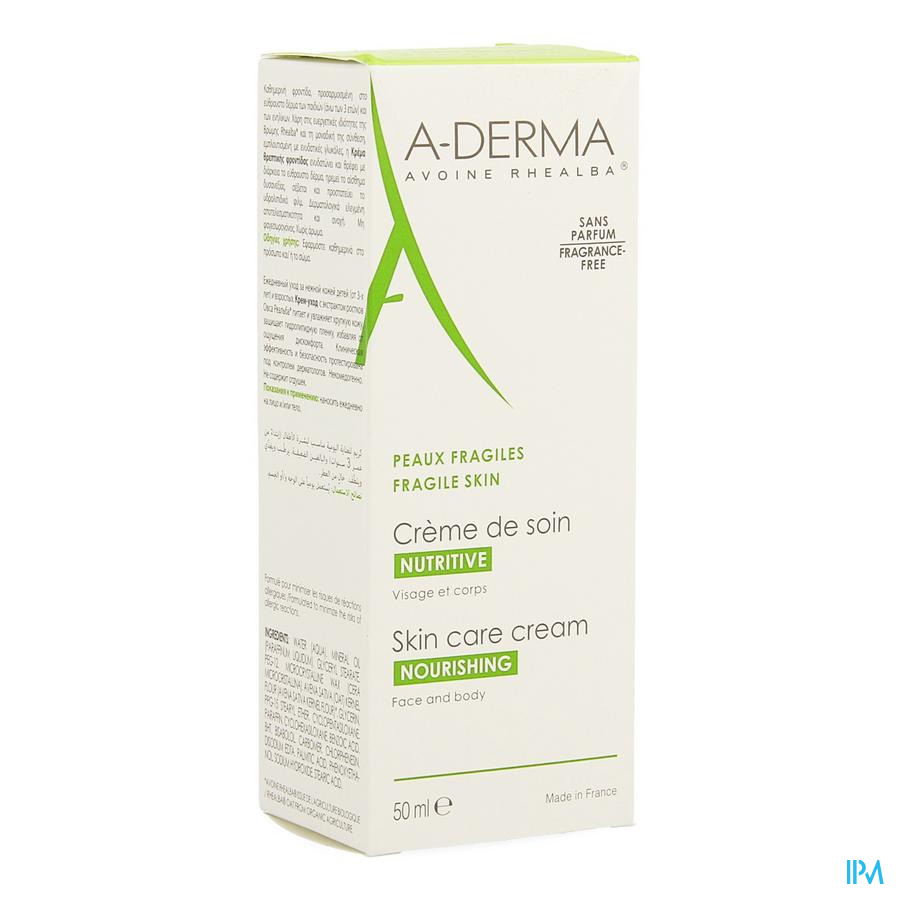 Aderma Havermelk Verzorgingscr 50ml