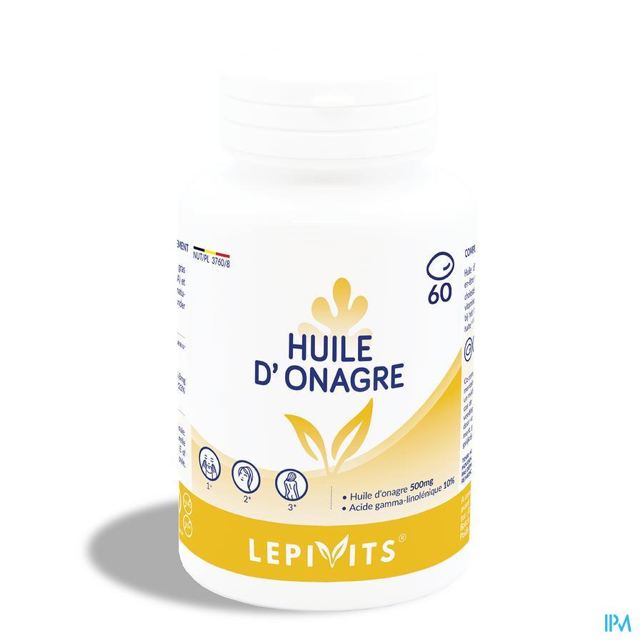 Leppin Huile Onagre 500 mg 10% Gla Capsule 60