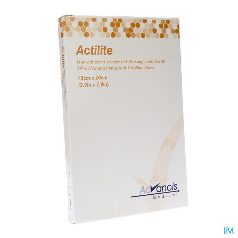 Actilite Pans Activon A/bact. N/adh 10x20cm 10