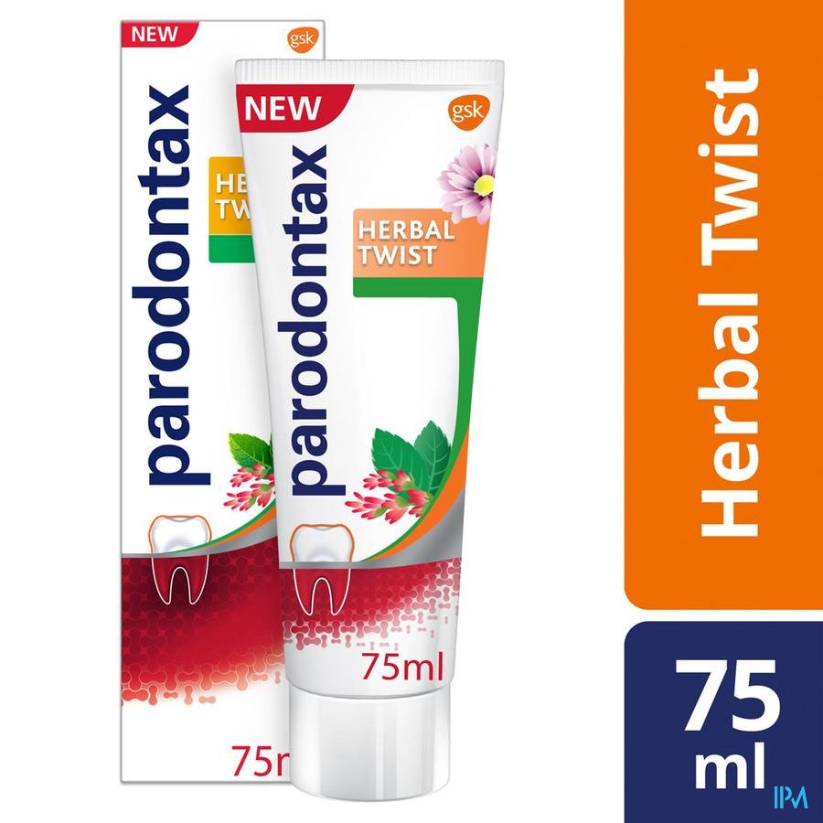 Parodontax Dentifrice Herbal Ginger Tube 75ml
