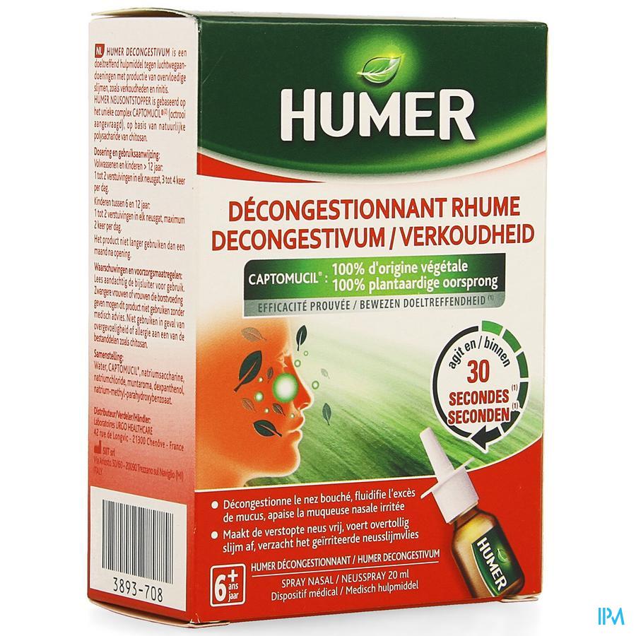 Humer Decongestivum Verkoudheid Neusspray 20ml