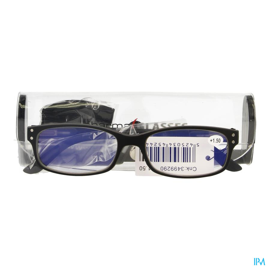 Pharmaglasses Visionblue Pc01 Leesbril +1.50 Black