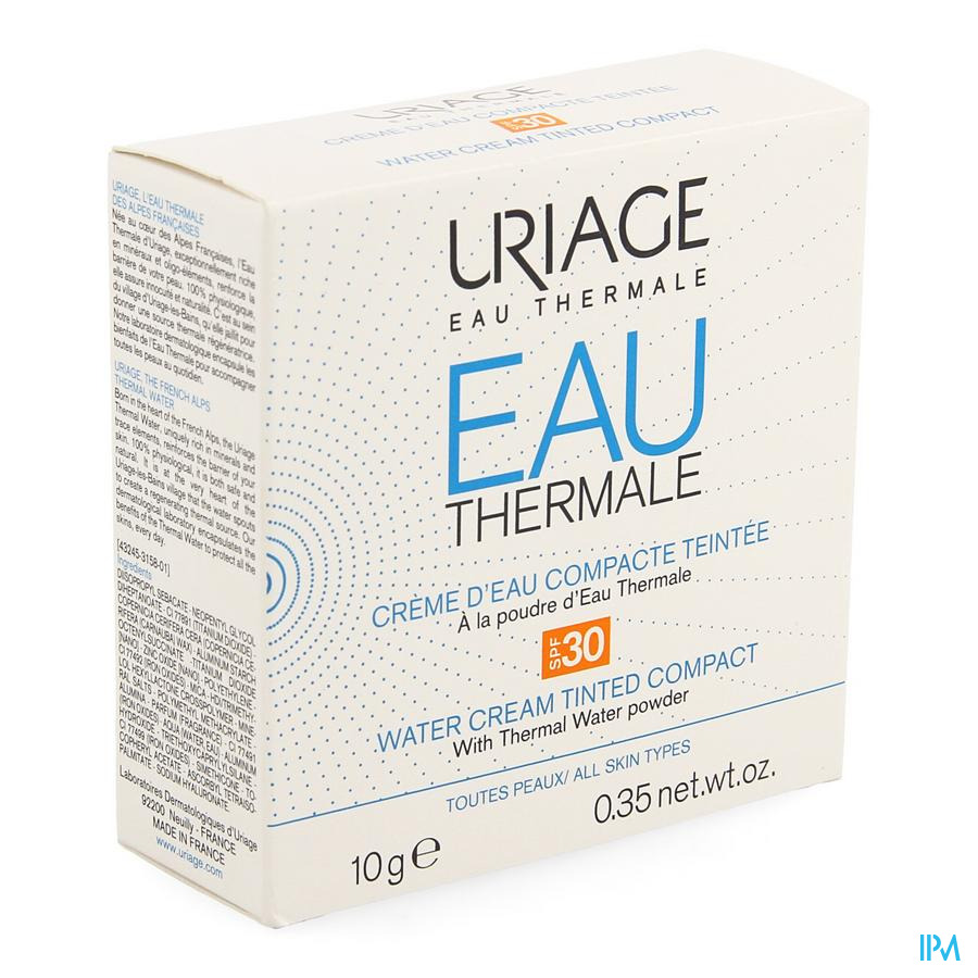 Uriage Thermaal Water Cr Compact Pdr Tint Ip30 10g