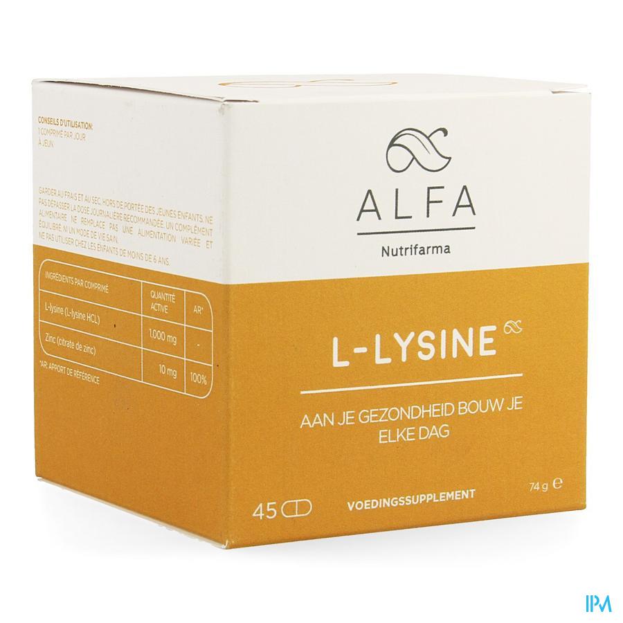 Alfa l-lysine 1000mg Comp 45