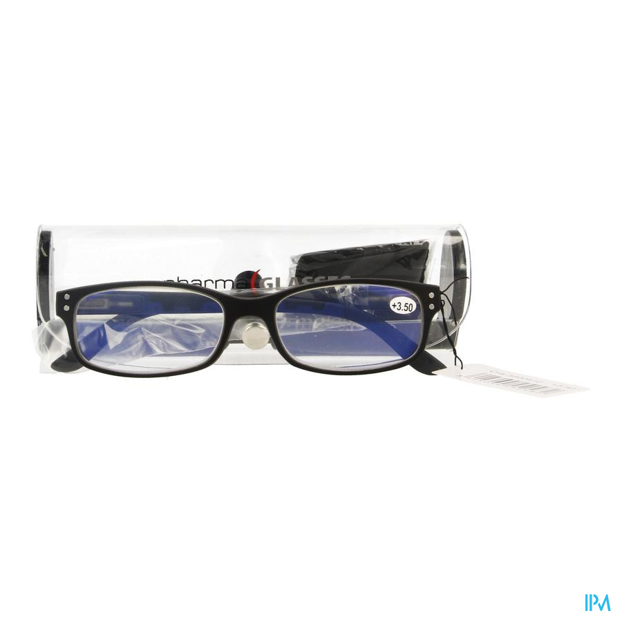 Pharmaglasses Visionblue Pc01 Leesbril +3.50 Black