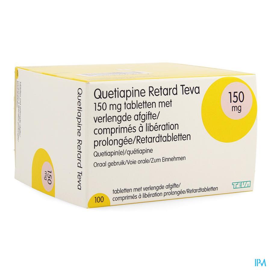 Quetiapine Retard Teva 150mg Verl.afgifte Comp 100