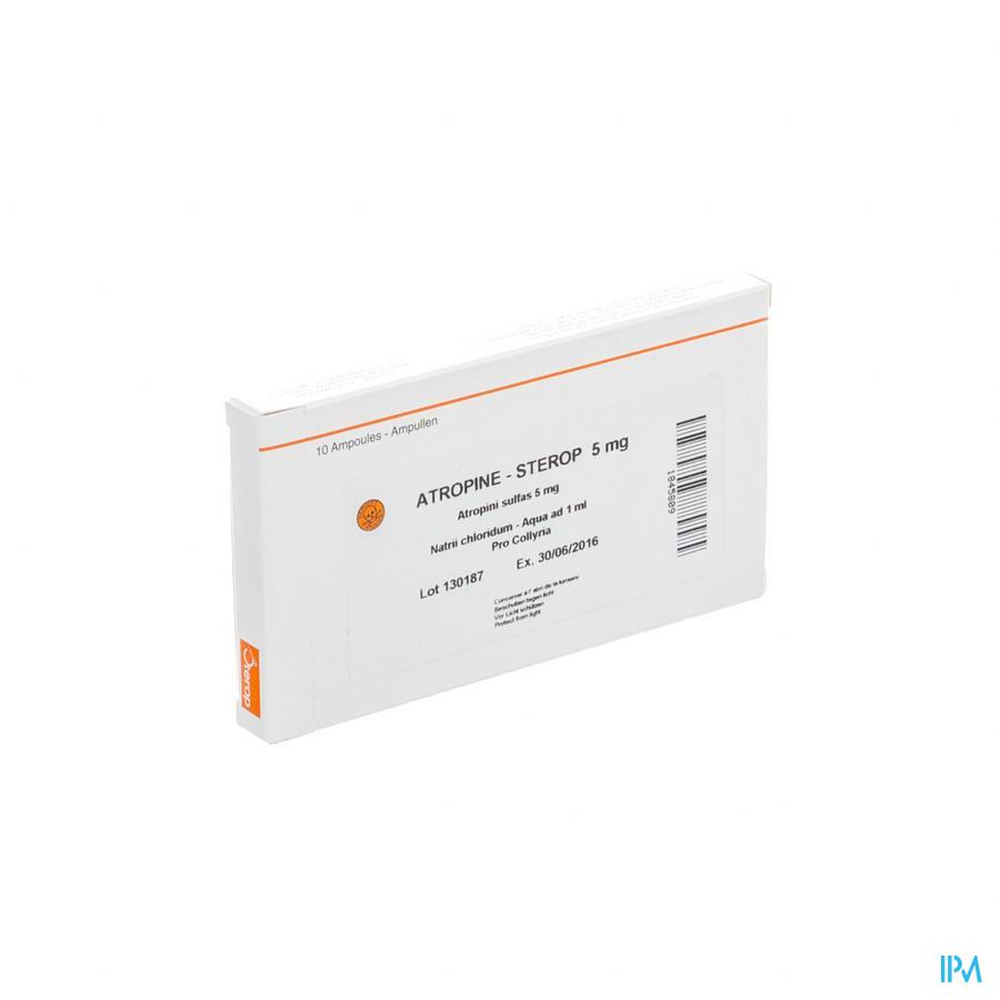 Atropine Sulf Amp 10 X 5,00mg/1ml