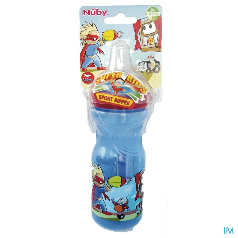 Nûby Sport Sipper™ Antilekbeker met prints - 300ml - 9m+