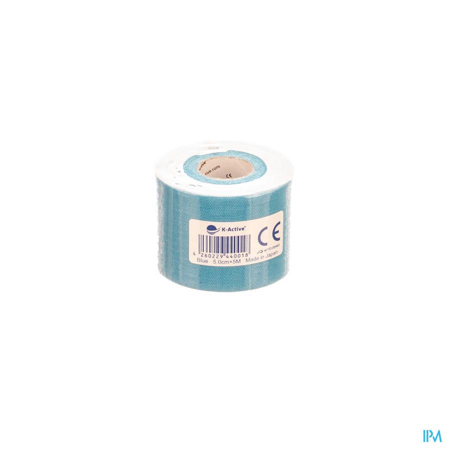 KINESIO-TEX TAPE ADHESIVE BLAUW 5CMX4M