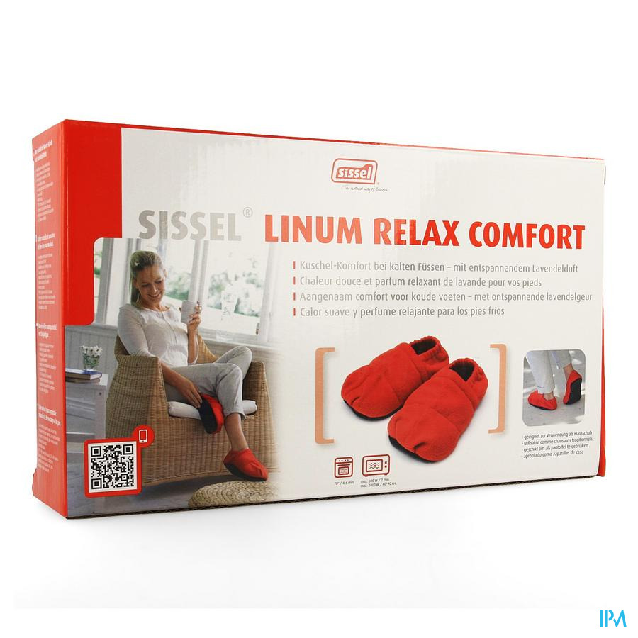 Sissel Linum Relax Conf.chaus.grain.lin 36-40rouge