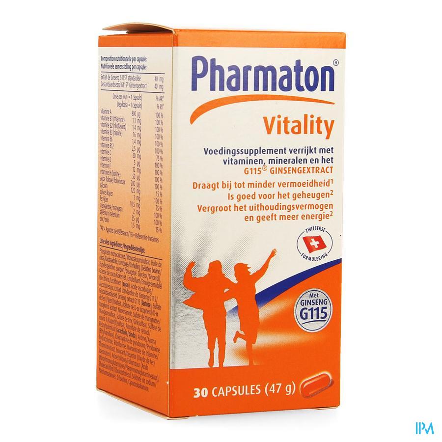 Pharmaton Vitality Capsules Nf Caps 30