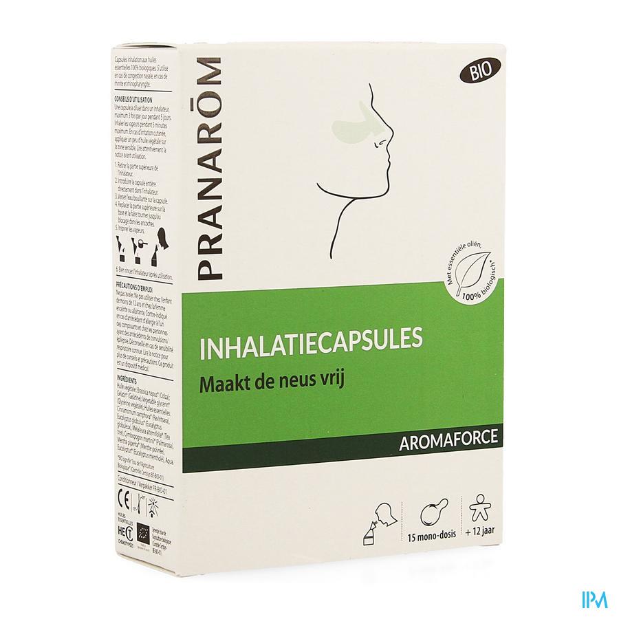 Aromaforce Bio Inhalatie Caps 15 Nf