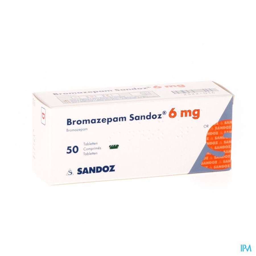 Bromazepam Sandoz Tabletten 50 X 6 mg