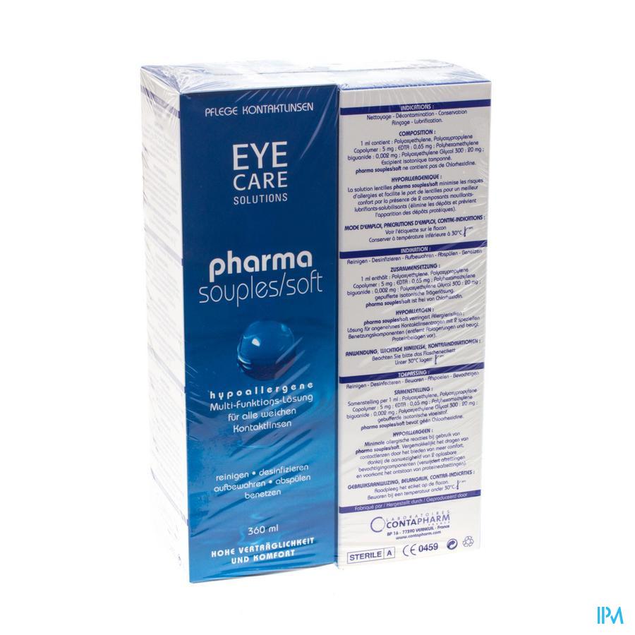 Eye Care Pharma Soft Duo Pack Oplossing Onderh. 2x360 ml