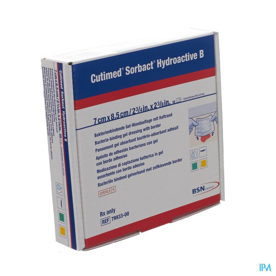 Cutimed Sorbact Hydroactive B 7x 8,5cm 10 7993300